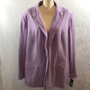 INC NWT Blazer purple faux pockets 3X